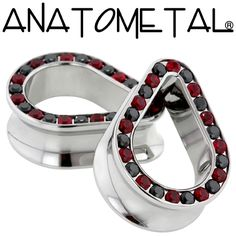 - Teardrop Gemmed Eyelets - ANATOMETAL - Professional Grade Body Piercing Jewelry
