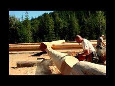 Custom Handcrafted Log and Timber Frame Homes During Construction, British Columbia, Canada. Western Red Cedar & Douglas Fir Handcrafted Log Homes Timber Frame Homes, Timber House, Log Cabin Homes, Log Cabins, Log Home Builders, Home Developers, Cedar Posts, Cedar Log, Mountain Homes