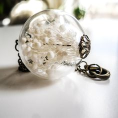 Baby's Breath Orb Necklace by Heron and Lamb | Fab.com