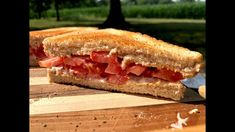 YouAccel Shared a Video: Toasted Tomato Sandwich - You Suck at Cooking (episode Tomatoes On Toast, Ideas Sándwich, Bread Toast, Summer Rolls, Fast Growing, No Cook Meals, Sandwiches, Healthy Eating, Stuffed Peppers