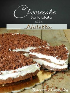 Crumble cheesecake com Nutella Cheesecake Desserts, Pie Dessert, Dessert Freddo, Sweet Recipes, Cake Recipes, Dessert Recipes, Nutella Recipes, Chocolate Recipes, Coffee And Walnut Cake