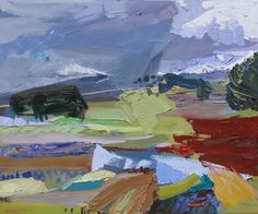 abstract landscape painting of winter colours in rural South Australia