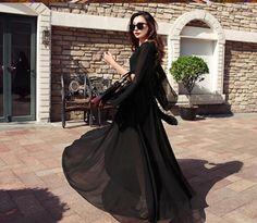 Women Vogue Short Sleeve V-Neck Big Pendulum Dress Summer Beach Dress Size S-Xl