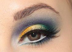 Makeup brown eyes by http://blogg.veckorevyn.com/hiilen/2012/03/05/dagens-makeup-sea-butterfly/