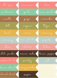 Printable Labels for Your Fall Food Gifts by Lia Griffith | Worldlabel Blog