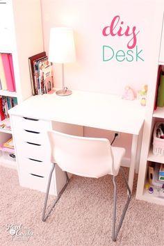 DIY Custom Desk (and IKEA Hack)