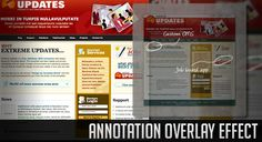 Tutorial on how to create a great looking overlay effect with jQuery for annotations of images on i.e. portfolio items