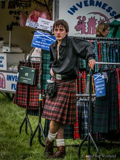 Kilt Salesman. Cute is cute!  Inspiration for my daughter, .