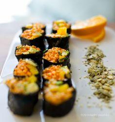 Golden Avocado Sushi Roll + Creative Vegan Sushi 101