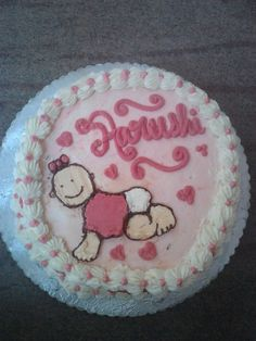 Baby Girl, Butter cream cake, baby cake