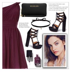 """""""Day #15: Brooke's party outfit"""" by makenziethedancer ❤ liked on Polyvore featuring Aquazzura, Chanel, Michael Kors and Joomi Lim"""