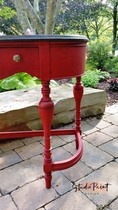 Emperor's Silk painted sofa table desk Painted Red Jacobean hall table sofa table, Painted Furniture, Refinished, Annie Sloan Chalk Paint, DIY Inspiration Ideas Painted sofa hall table #paintedfurniture#painted#distressed#diy#inspriation#ideas#annie