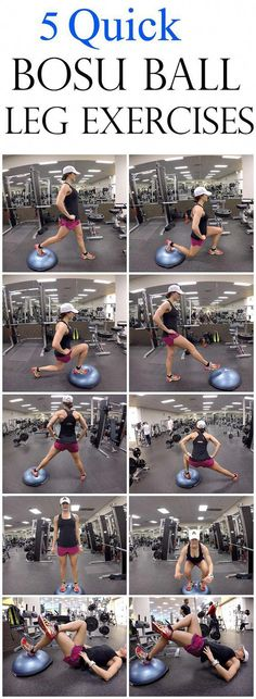 5 Quick Bosu Ball Leg Exercises is part of Bosu ball workout - 5 Quick Bosu Ball Leg Exercises Bosu Ball is great because you use your own body weight Bosu Ball is you are always using your core muscles to help with stability, Fitness Workouts, Bosu Workout, At Home Workouts, Fitness Tips, Fitness Motivation, Health Fitness, Ball Workouts, Health Diet, Exercise Motivation