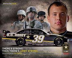 Nascar driver Ryan Newman - U.S. Army car