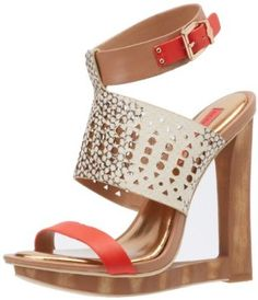 """BCBGMAXAZRIA Women's MA-Meteur Wedge Sandal BCBGMAXAZRIA. $225.95. Fit: True to Size. Manmade sole. Upper: Leather. Heel Height: 5"""". 100% Leather"""
