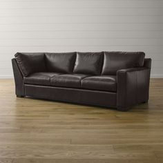 Axis II Leather Right Arm Corner Sofa - Crate and Barrel