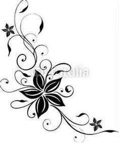 Love the flow-ness of this :-) Tiny Tattoos For Girls, Girly Tattoos, Foot Tattoos, Flower Tattoos, Body Art Tattoos, Quiling Paper Art, Damask Decor, Tattoo Templates, Butterfly Nail Art