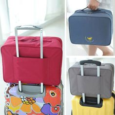 2560f371ea34d Portable Multi-Layer Travel Storage Bag Waterproof Large Capacity Folding  Bag Moving Box - Newchic