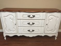 A personal favorite from my Etsy shop https://www.etsy.com/listing/288727785/french-provincial-sideboard-buffet