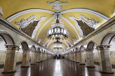 Architecture photo series of all lines and stations of the Moscow Metro