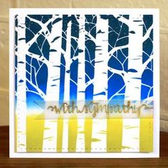 Could be done with birch tree die cut over brayered or sponged paper.