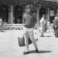 Style Icon: Mr Jean-Paul Belmondo, pictured in Venice in 1960. Five decades later, and the outfit would work just as well today.
