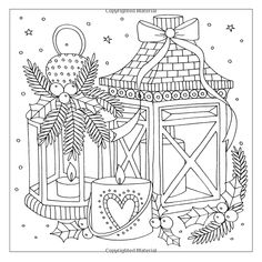 Detailed Coloring Pages, Cute Coloring Pages, Doodle Coloring, Coloring Pages To Print, Coloring Books, Christmas Colors, Christmas Art, Christmas Coloring Sheets, Printable Adult Coloring Pages