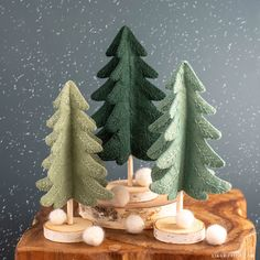 Embroidered Felt Holiday Trees
