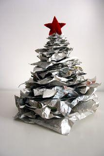 Il baule delle idee: Handmade&riciclo: alberi di Natale alternativi