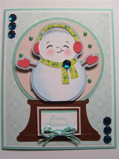 Winter Frolic - snowman with earmuffs