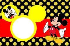 Mickey Tradicional - Kit Completo com molduras para convites, rótulos para guloseimas, lembrancinhas e imagens! - Fazendo a Minha Festa