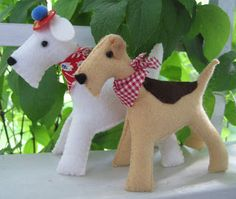 DIY Felt Schnautzer Dog - FREE Sewing Pattern / Tutorial