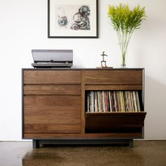 "Handcrafted Aero 51"" Media Storage Cabinet By Symbol Furniture Audio"