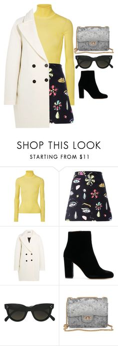 """yeah ok but"" by edkth on Polyvore featuring Calvin Klein 205W39NYC, Boutique Moschino, Carven and CÉLINE"