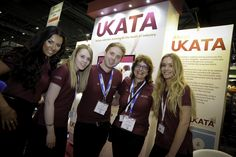 The UKATA team and Sofia Skvortsova at our stand at the Safety and Health Expo 2015
