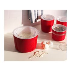 LJUST Jar with lid IKEA Suitable for storing and serving sliced lunch meats, cheeses, etc.