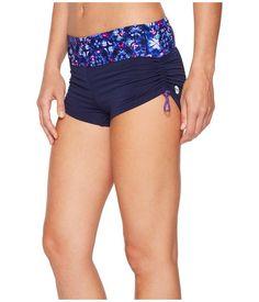 eb4550b091 TYR Women's Santa Cruz Della Boyshorts Swimsuit Bottom ( Navy Purple )