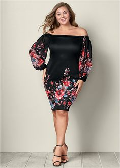 Shop women's plus size dresses in a variety of styles like dressy plus-size formal dresses, plus-size maxi dresses, and much more. Casual Party Dresses, Dressy Outfits, Trendy Dresses, Fashion Dresses, Curvy Fashion, Urban Fashion, Plus Size Fashion, Plus Size Maxi Dresses, Tight Dresses