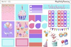 Miss Kellz Planning: Birthday Mini Kit #FreePrintableStickers