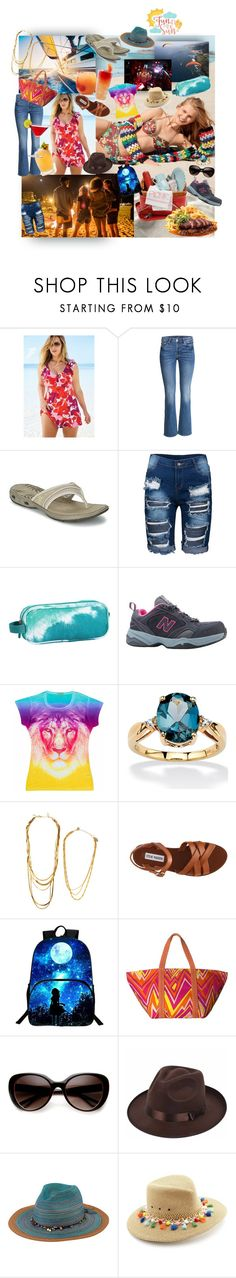 """all the best summer fun"" by caroline-buster-brown ❤ liked on Polyvore featuring Superdry, swimsuitsforall, Belvedere, ALPHA, Columbia, PBteen, New Balance, Palm Beach Jewelry, Soo Ihn Kim and M Missoni"