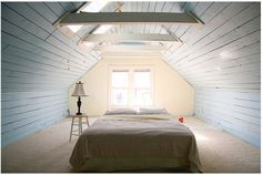 I don't necessarily like this, but the space is very similar to the dormer area where Lydia's room will be - size, shape and end wall with window.