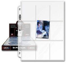 Amazon.com: 100 BCW 9-Pocket Plastic Sheets: Toys & Games