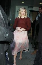 Chloe Moretz arrives at Good Morning America promoting her new film in New York City