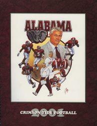 2001 University of Alabama Football Media Guide Cover - the Dennis Franchione short era starts