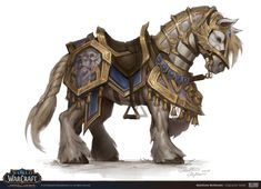 The World of Warcraft Art team has teamed up with ArtStation to spotlight different Battle for Azeroth visuals each day this week. Today's spotlight is on the art created by the Character Art team. Warcraft Funny, Warcraft Art, World Of Warcraft, Horse Drawings, Animal Drawings, Fantasy Character Design, Character Art, Fantasy Kunst, Horse Armor