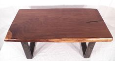 Coffee Table Reclaimed Live Edge Rustic Walnut Slab Hand Made in USA #TheTreeArtisan #Contemporary