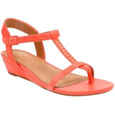 b6ed5a332b2b Clarks Women s Parram Blanc Coral Suede Sandals ( 100) ❤ liked on Polyvore  featuring shoes