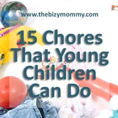 Chores for young children