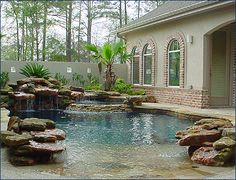 i love the feel of natural lagoon type pools...i love the shallow entry plus the fact that this pool isn't to big $$