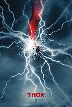 """""""Thor: The Dark World"""" collectible alternate movie poster by Scott Woolston. Films Marvel, Marvel Movie Posters, Marvel Dc Comics, Marvel Heroes, Marvel Avengers, Film Posters, Poster Frames, Comic Movies, Comic Book Characters"""